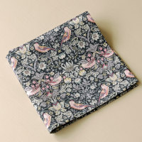 Strawberry Thief black pocket square