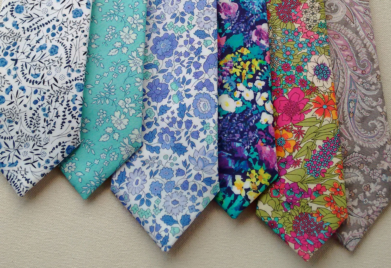Liberty print floral ties