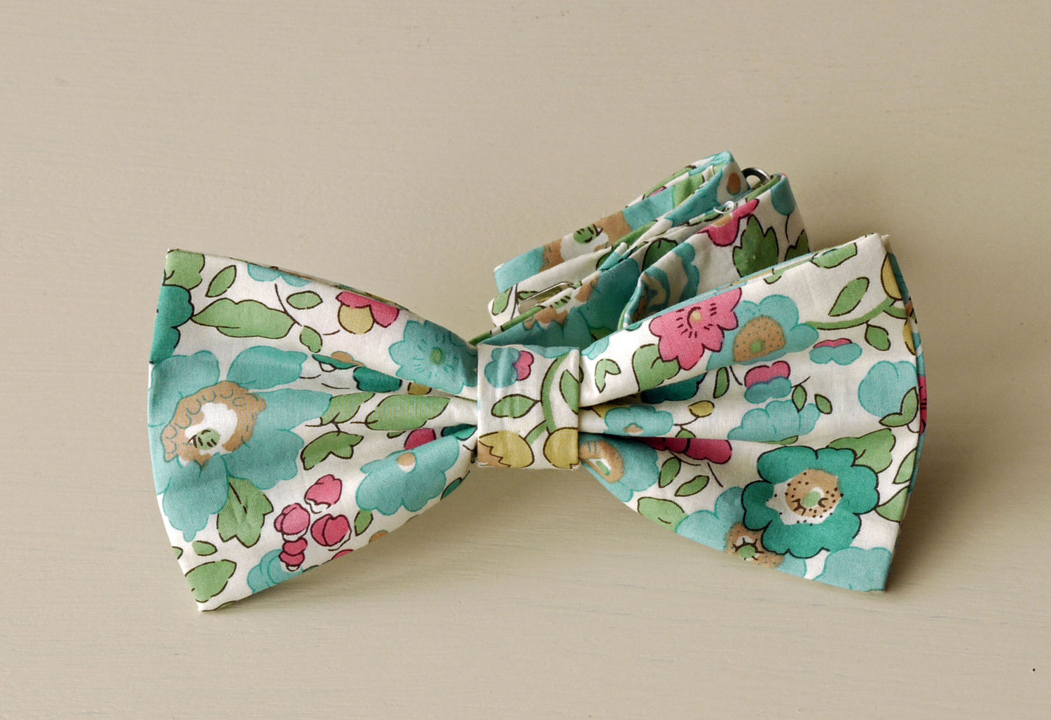 Liberty print floral bow tie