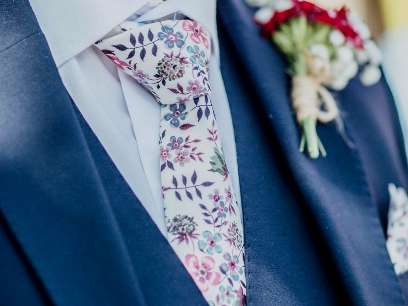 Carly Buick Photography - Liberty print wedding ties by CatkinJane