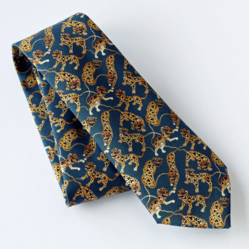Caspian Tiger design Liberty print tana lawn tie - Heads and Tails