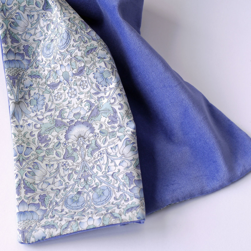 Liberty Lodden and Blue Velveteen Scarf