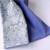 Periwinkle Blue Velveteen and Liberty Lodden Scarf