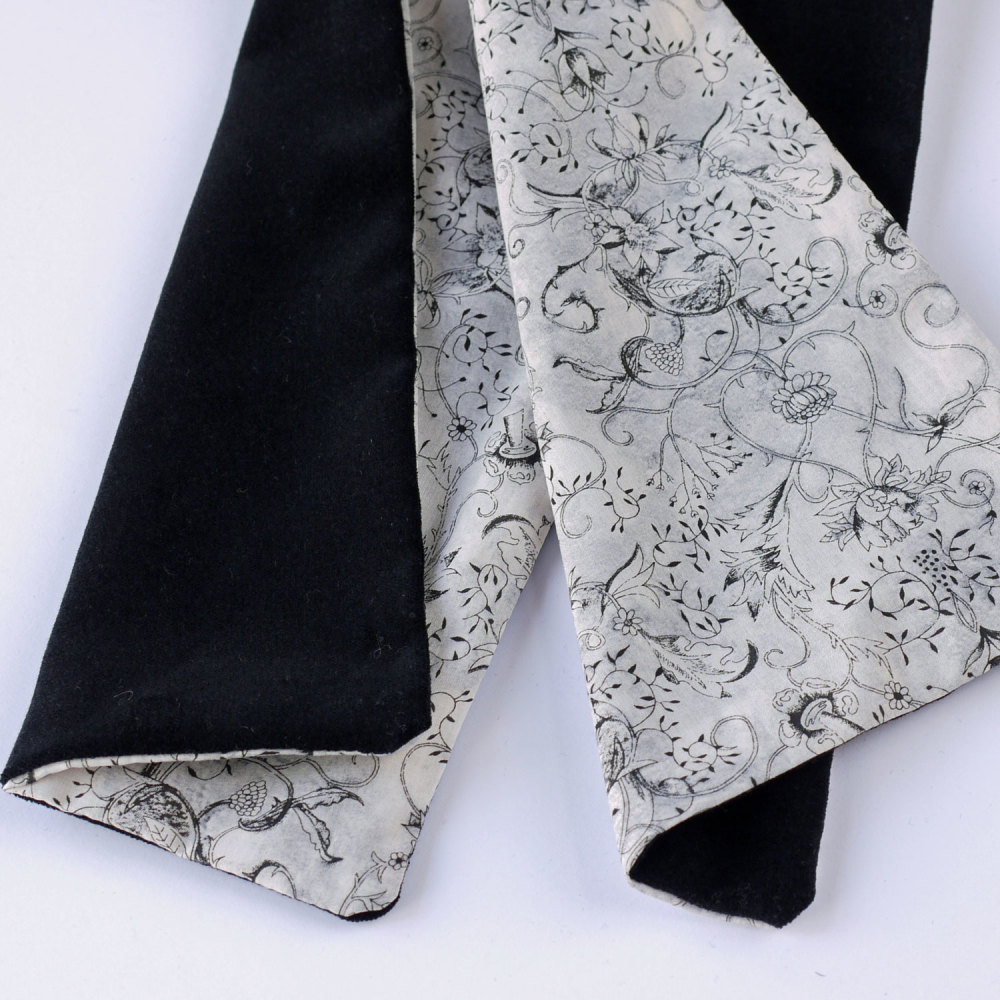 Liberty print Wild at Heart and black velveteen scarf