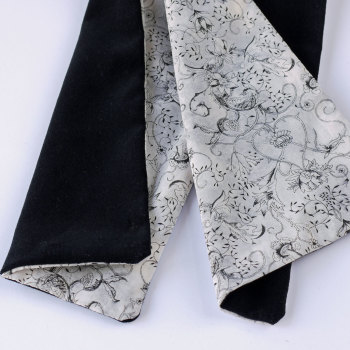Black velveteen and Liberty print Wild at Heart scarf