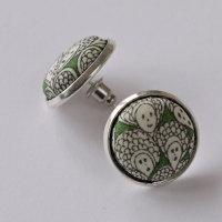 Liberty fabric earrings - Cranford green