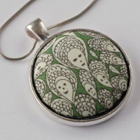Liberty print pendant - Cranford green