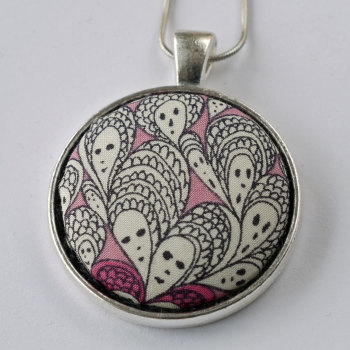 Liberty print pendant - Cranford pink
