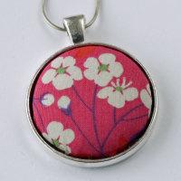 Liberty print pendant - Mitsi pink