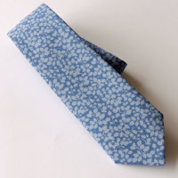 Gentleman's hand stitched tie - Glenjade blue