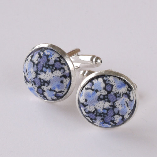 Pepper blue Liberty cufflinks