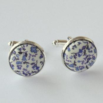 Newland blue Liberty cufflinks