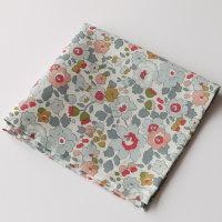 Grey floral pocket square - Liberty tana lawn Betsy