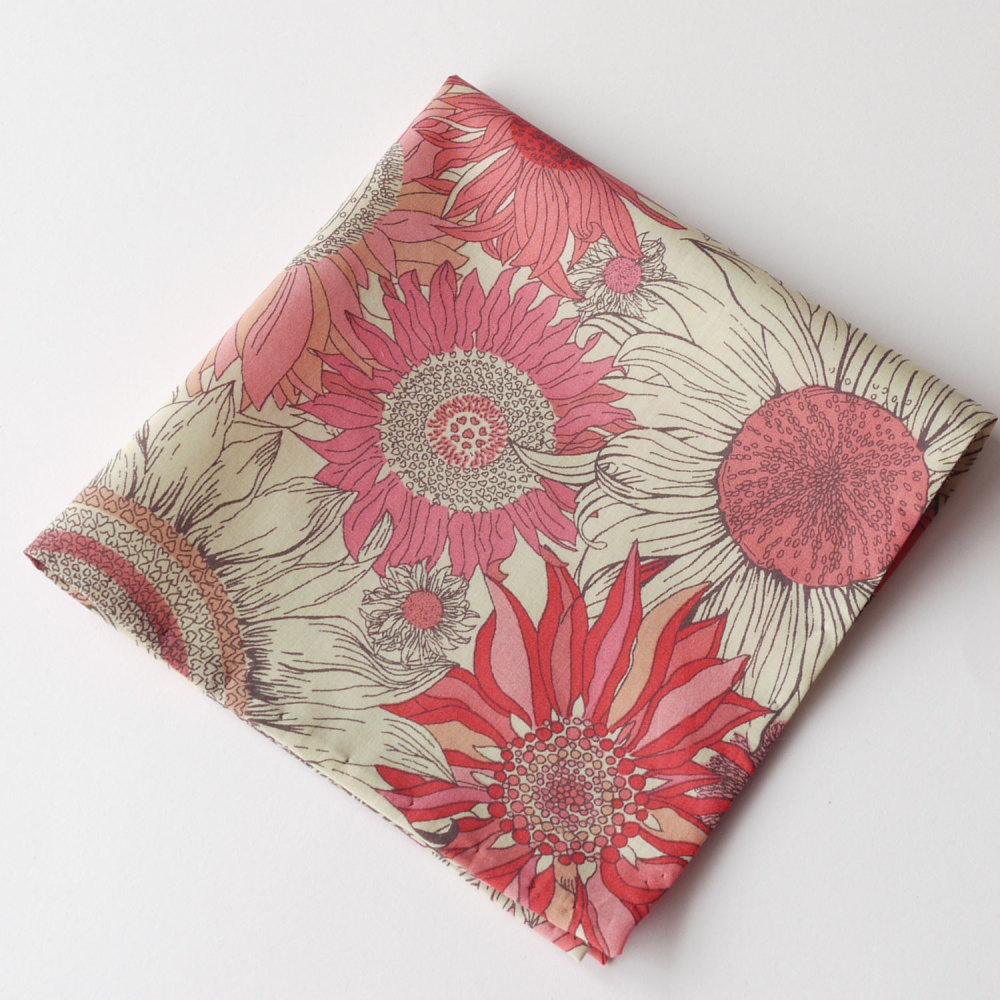 Pink floral pocket square - Liberty pocket square Susanna