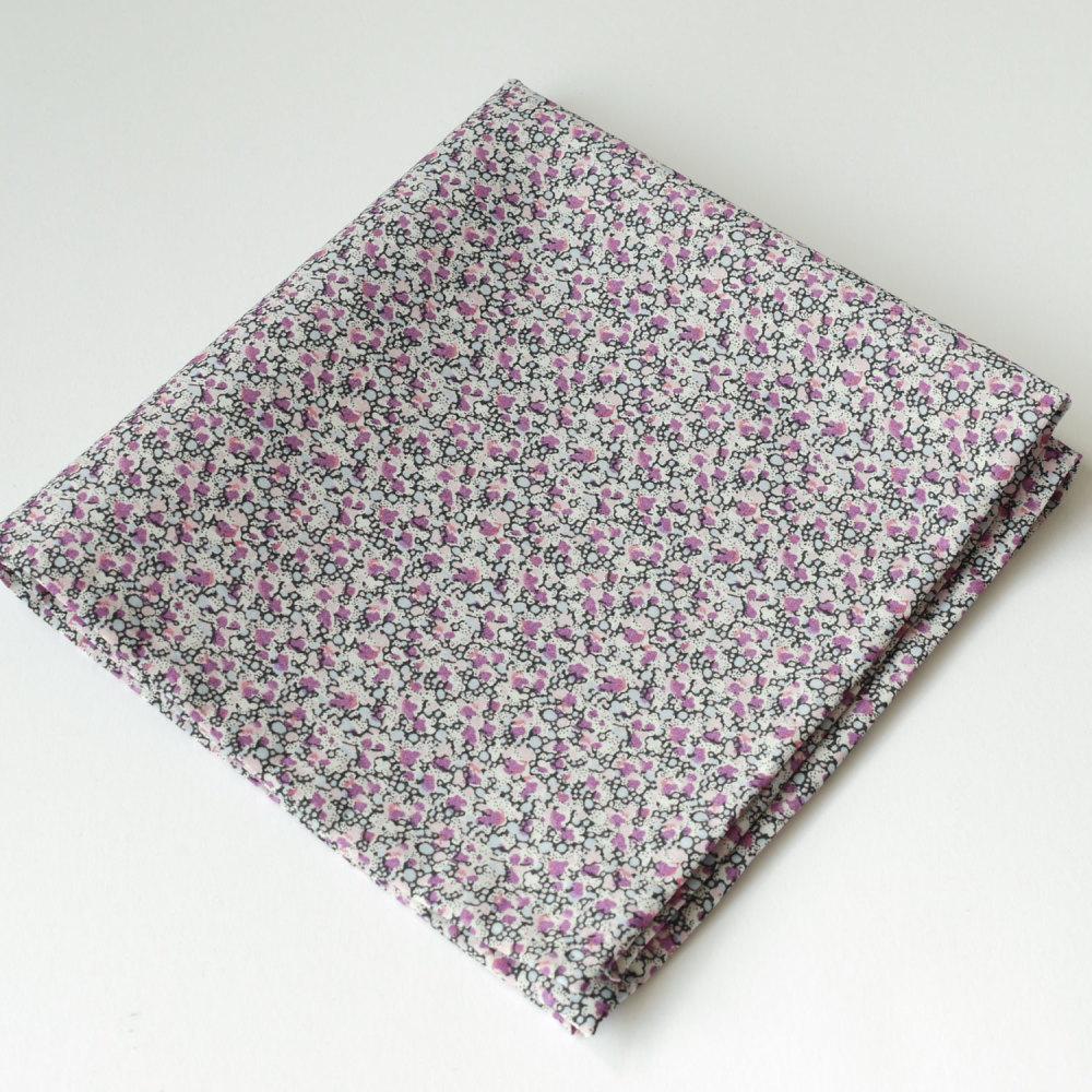Mens pocket square - Liberty tana lawn Pepper purple