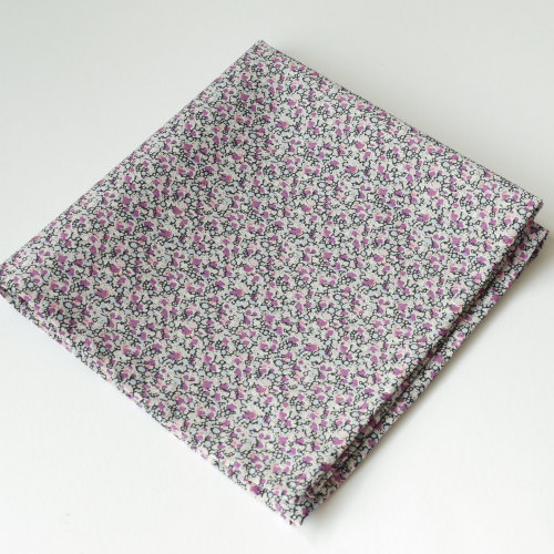 Mens pocket square - Liberty tana lawn Pepper purple