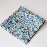Liberty tana lawn pocket square Kaylie Sunshine blue