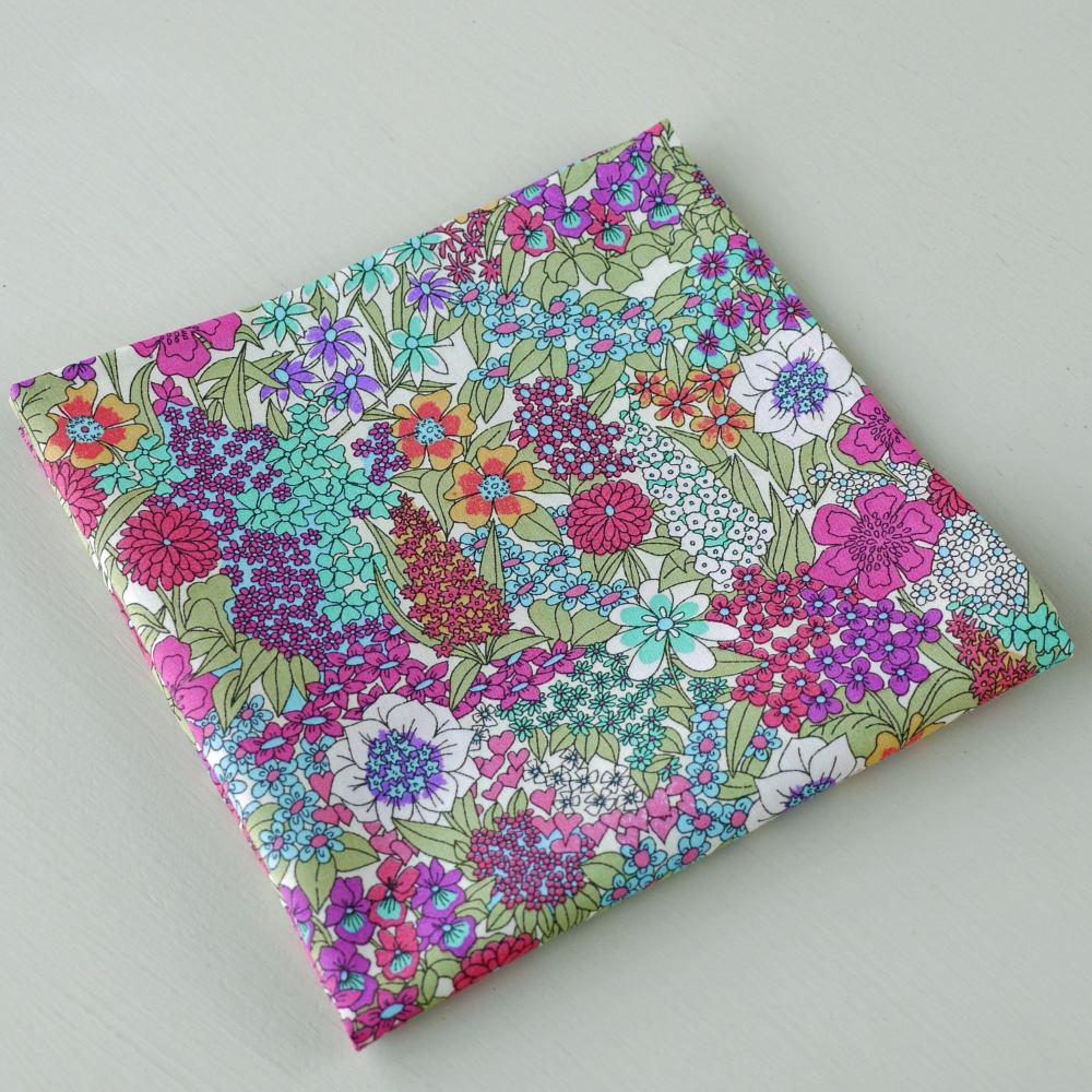 Floral Liberty pocket square - Ciara bright