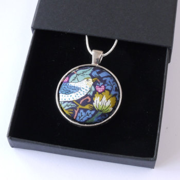 Liberty pendant - Strawberry Thief pendant