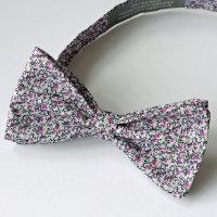 Liberty print tana lawn bow tie - Pepper purple