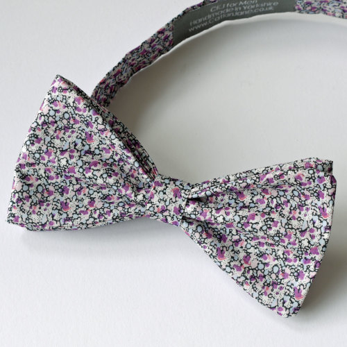 Liberty print tana lawn bow tie - Pepper purple