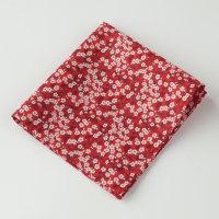 Gentleman's pocket square - Liberty Mitsi Valeria red