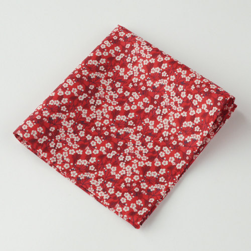 Gentleman's pocket square - Liberty Mitsi Valeria red