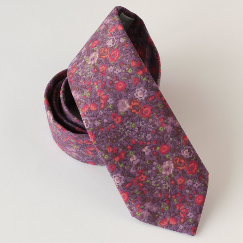 Floral Liberty print tie - Emma and Georgina purple tie