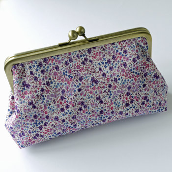 Liberty print snap clutch bag - Phoebe purple