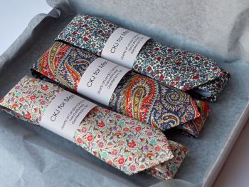 Boxed Liberty print wedding ties
