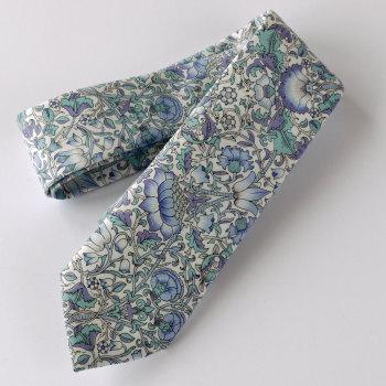 William Morris design Lodden tie - light blue