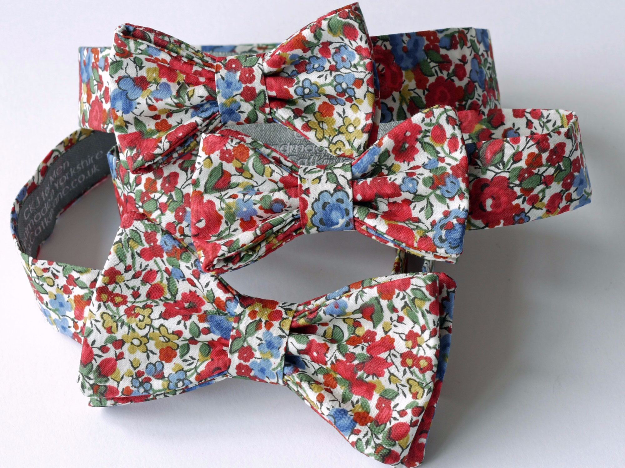 Liberty print bow ties for boys