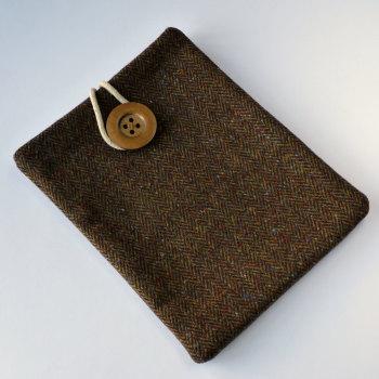 Donegal Tweed iPad case - brown