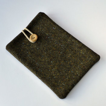 Donegal Tweed iPad mini case - green