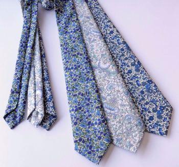 new blue Liberty print ties