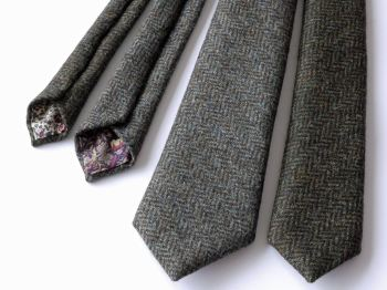 British tweed and Liberty print ties