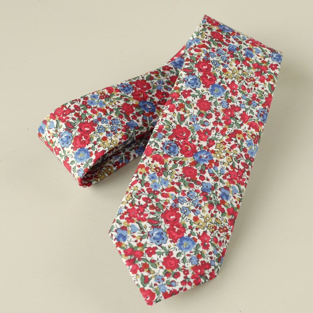 Custom order for 3 regular width hand-stitched ties and one boy's bow tie m