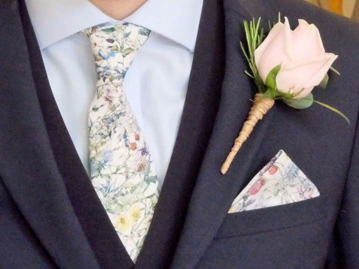 Liberty print wedding ties