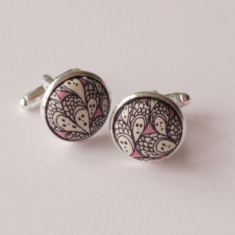 Liberty Grayson Perry design Cranford silver plated cufflinks