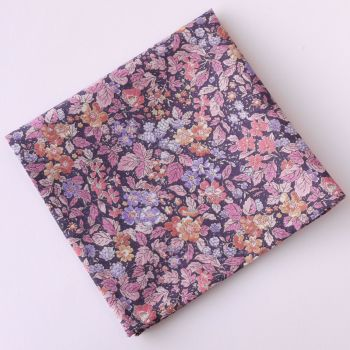 Floral pocket square - Liberty tana lawn Prince George purple