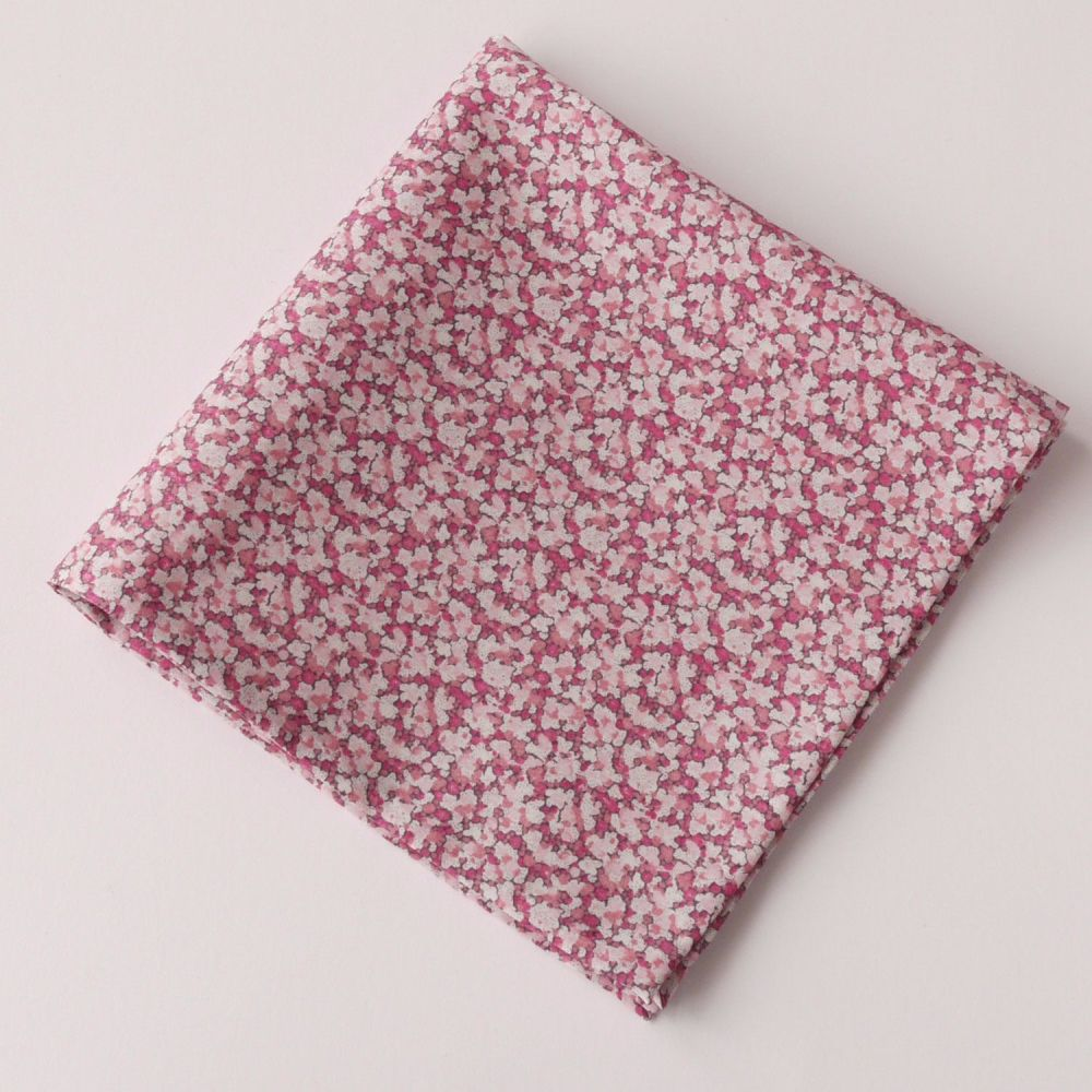 Pink Liberty tana lawn pocket square - Pepper