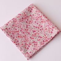 Pink floral pocket square - Liberty tana lawn Phoebe