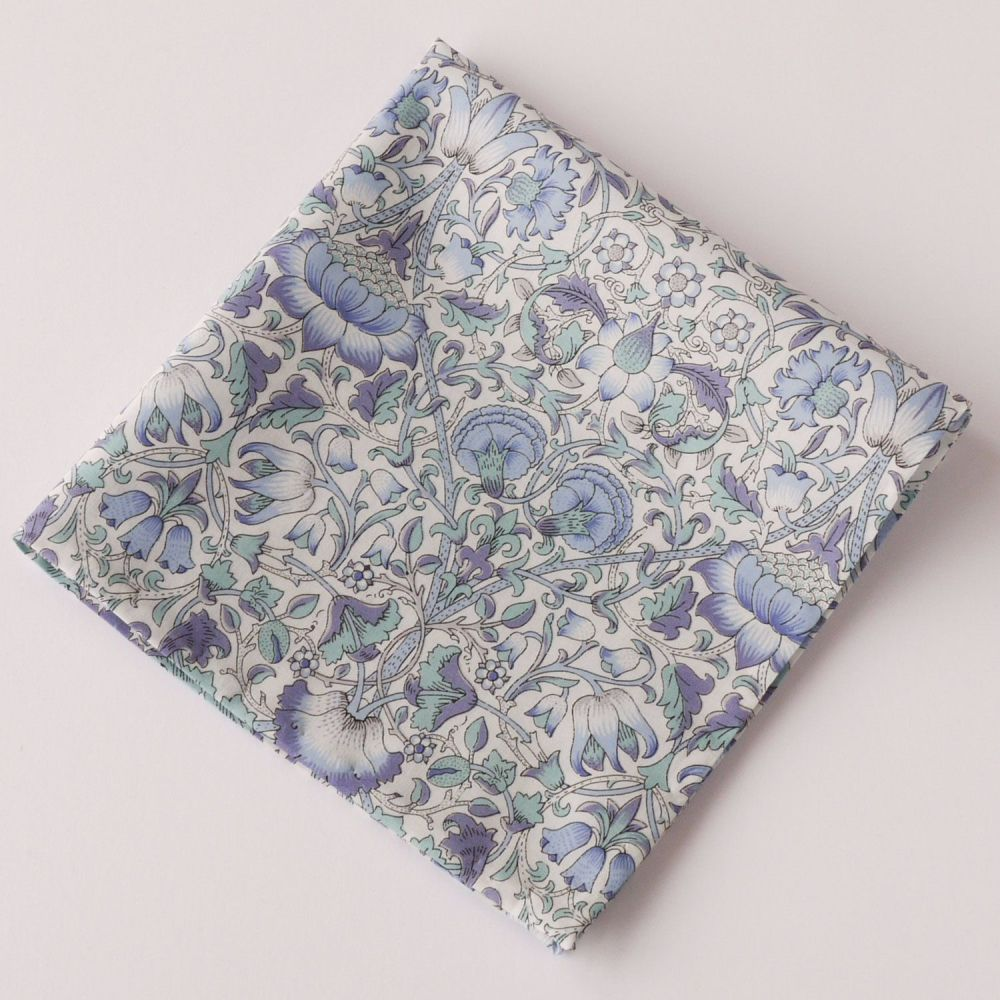 Mens Pocket Square - Liberty tana lawn Lodden light blue