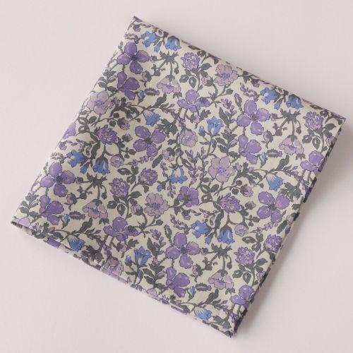 Floral pocket square - Liberty tana lawn Meadow