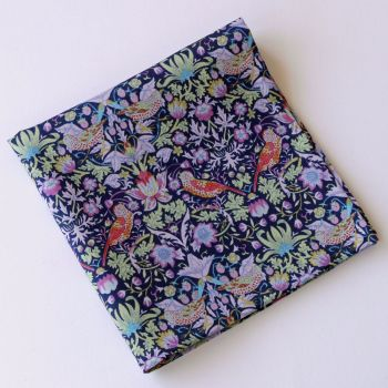 Strawberry Thief purple pocket square