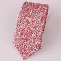 Floral Liberty print tie - Emma and Georgina pink tie