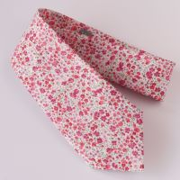 Pink floral Liberty tana lawn tie - Phoebe pink