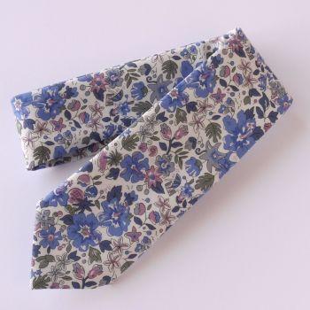 Fun floral Liberty print tie - Aloha Betsy blue