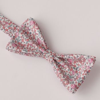 Floral Liberty print bow tie - Eloise peach pink