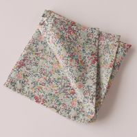 Floral pocket square - Liberty tana lawn Emma and Georgina turquoise